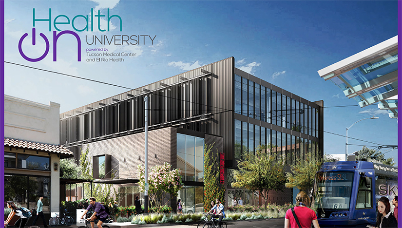 Photo showing the new HealthOn University building in Tucson that is opening on Jan 23, 2020