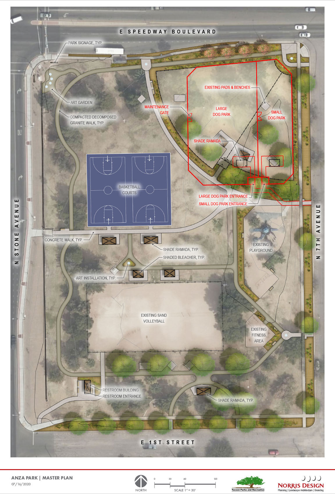 Anza Park Plan as of March 2021 (overhead map)